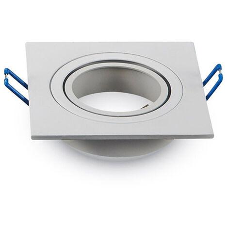 ARO orientable aluminio cuadrado encastrable blanco