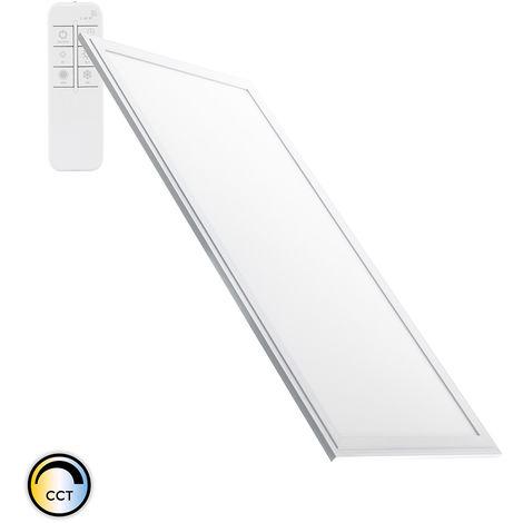 Panel LED Regulable CCT Seleccionable 120x60cm 60W 5400lm Marco Plata Seleccionable (Cálido-Neutro-Frío)