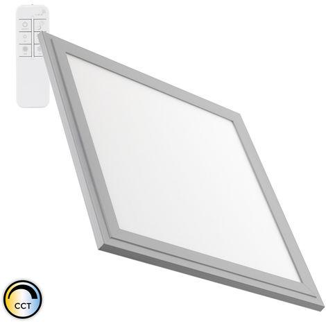 Panel LED Regulable CCT Seleccionable 60x60cm 40W 3600lm Marco Plata Seleccionable (Cálido-Neutro-Frío)