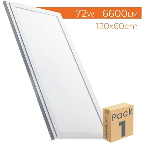 Panel LED Slim 120x60cm 72W 6600 LM A++ | Blanco Neutro 4500K - Pack 5 Uds. - Blanco Neutro 4500K