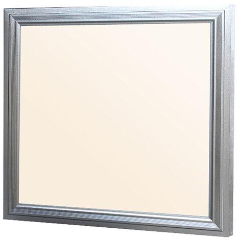Panel LED slim 30x30cm 12W marco plata superficie lámpara de techo blanco cálido