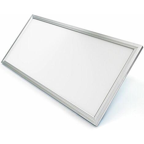 Panel LED Slim 60x30cm 24w Marco Plata 6000K