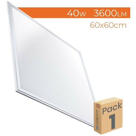 Panel LED Slim 60x60cm 40W 3600LM A++ | Blanco Frío 6500K - Pack 2 Uds. - Blanco Frío 6500K