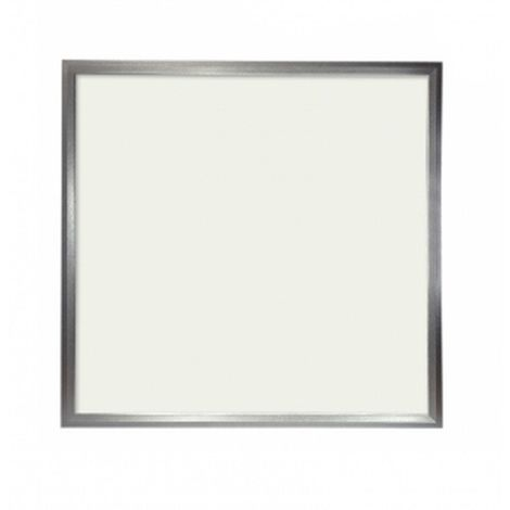 Panel LED Slim 60x60cm 48W Marco Plata 4300 LUMENS COLOR Blanco Neutro 4500K(driver incluido)