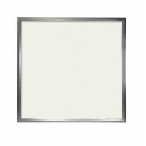 Panel LED Slim 60x60cm 48W Marco Plata 4500 LUMENS COLOR Blanco FRIO 6000K(driver incluido)