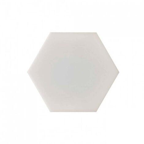 Panel LED SMD enlazable hexagonal, blanco mate, 120º, 200 lúmenes, 4000K, blanco neutro, IP20, no regulable.