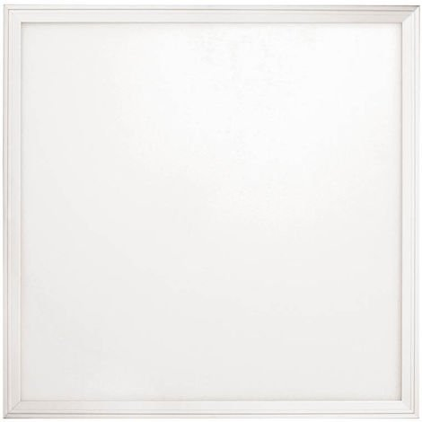 Panel LED SMD extraplano cuadrado empotrable, blanco mate, 140º, 1848 lúmenes, 4000K, blanco neutro, IP20. No regulable.