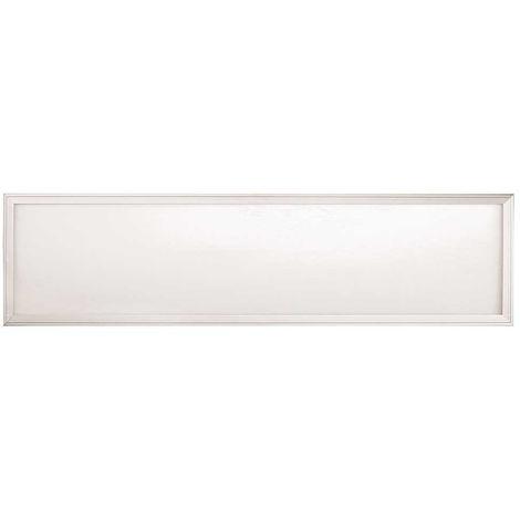 Panel LED SMD extraplano rectangular empotrable, blanco mate, 140º, 3200 lúmenes, 4000K, blanco neutro, IP20. No regulable.