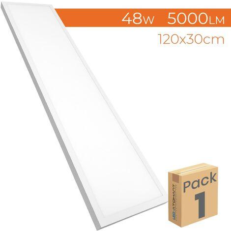 Panel LED Superficie 120x30cm 48W 4400LM A++   Blanco Frío 6500K - Pack 1 Ud. - Blanco Frío 6500K