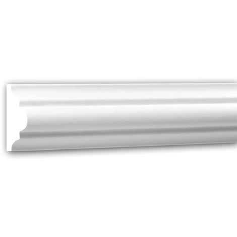 Panel Moulding 151308 Profhome Dado Rail Decorative Moulding Frieze Moulding Neo-Classicism style white 2 m