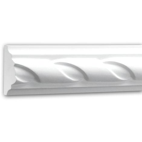 Panel Moulding 151312 Profhome Dado Rail Decorative Moulding Frieze Moulding Neo-Empire style white 2 m