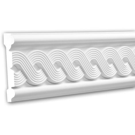 Panel Moulding 151319 Profhome Dado Rail Decorative Moulding Frieze Moulding Neo-Classicism style white 2 m