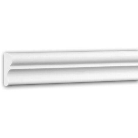 Panel Moulding 151321F Profhome Dado Rail Flexible Moulding Decorative Moulding Neo-Classicism style white 2 m