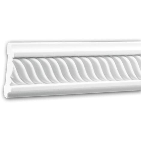 Panel Moulding 151324F Profhome Dado Rail Flexible Moulding Decorative Moulding Neo-Empire style white 2 m