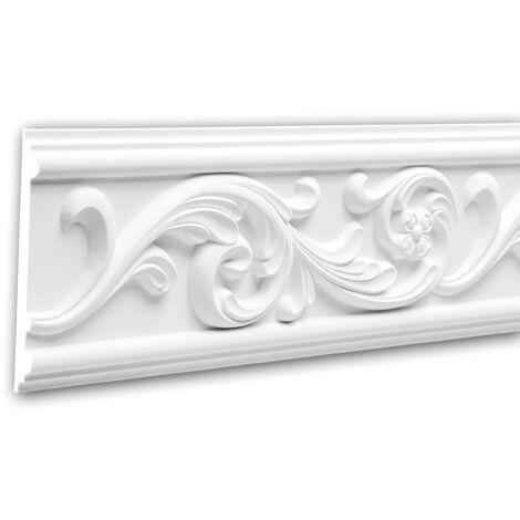 Panel Moulding 151325F Profhome Dado Rail Flexible Moulding Decorative Moulding Rococo Baroque style white 2 m
