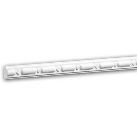 Panel Moulding 151329 Profhome Dado Rail Decorative Moulding Frieze Moulding Neo-Classicism style white 2 m