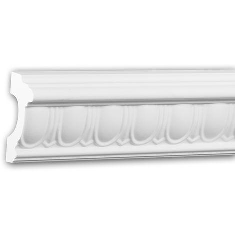 Panel Moulding 151330 Profhome Dado Rail Decorative Moulding Frieze Moulding timeless classic design white 2 m