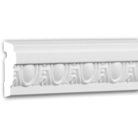 Panel Moulding 151332 Profhome Dado Rail Decorative Moulding Frieze Moulding Neo-Classicism style white 2 m