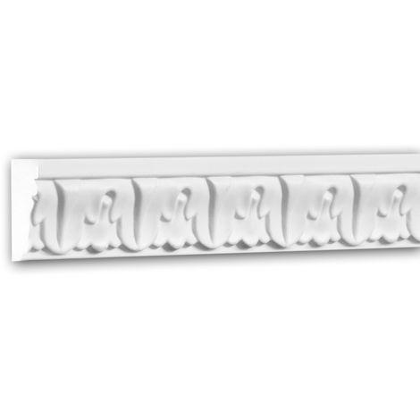 Panel Moulding 151334 Profhome Dado Rail Decorative Moulding Frieze Moulding Neo-Classicism style white 2 m