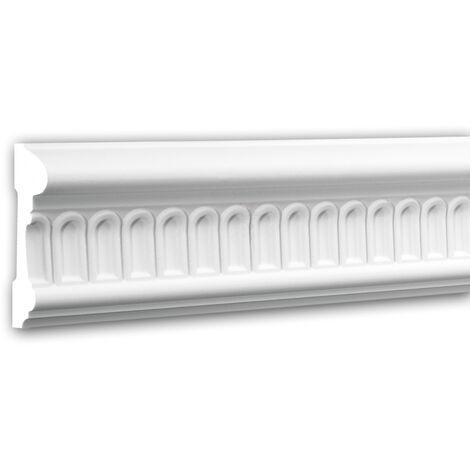 Panel Moulding 151340F Profhome Dado Rail Flexible Moulding Decorative Moulding timeless classic design white 2 m