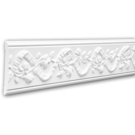 Panel Moulding 151349 Profhome Dado Rail Decorative Moulding Frieze Moulding Neo-Renaissance style white 2 m