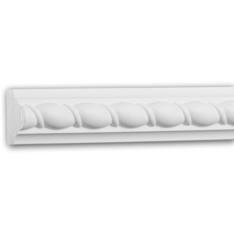 Panel Moulding 151353 Profhome Dado Rail Decorative Moulding Frieze Moulding Neo-Empire style white 2 m