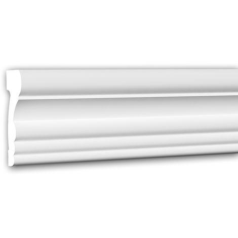 Panel Moulding 151354 Profhome Dado Rail Decorative Moulding Frieze Moulding Neo-Classicism style white 2 m