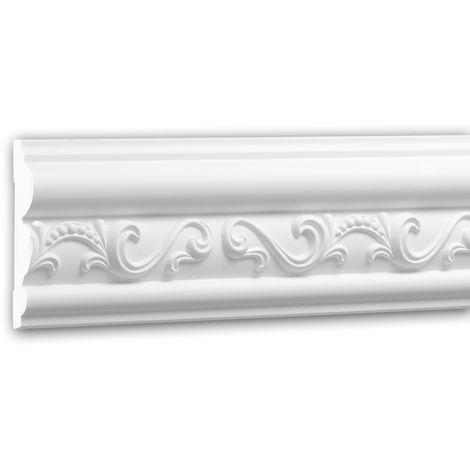 Panel Moulding 151358 Profhome Dado Rail Decorative Moulding Frieze Moulding Neo-Empire style white 2 m