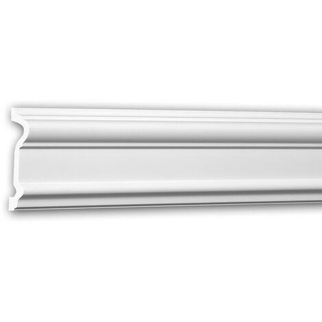 Panel Moulding 651307 Profhome Dado Rail Decorative Moulding Frieze Moulding Neo-Classicism style white 2 m