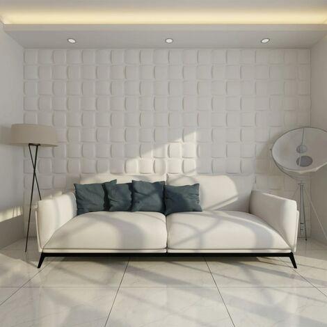 Panel mural 3D cuadrado 24 paneles 6 m² 0,5 m x 0,5 m