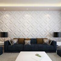 Panel mural 3D floreado 0,3 m x 0,3 m 66 Paneles 6 m²