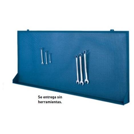 Panel para ganchos azul 1500x140x830mm METALWORKS GR16