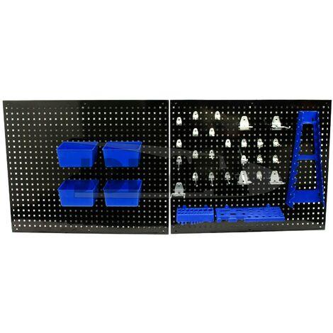 Panel para Herramientas de Metal 550 x 455mm con accesorios, 32 piezas