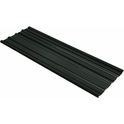 Panel para tejado 12 unidades acero galvanizado gris antracita