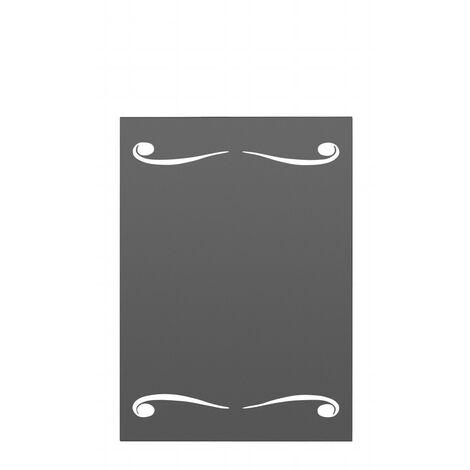 Panel protector pared doble espiral de medidas: 70x90 cm (An x Al)