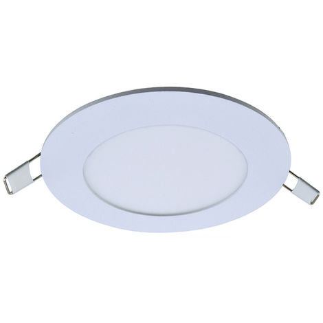 Panel redondo de luz, 6W, 30 LED, blanco
