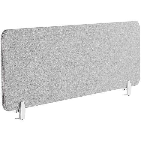 Panel separador para escritorio gris claro 130 x 40 cm WALLY
