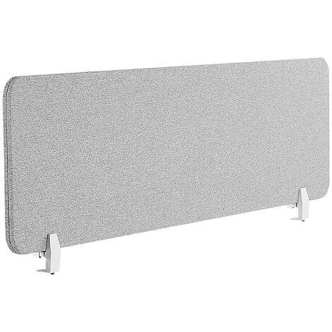 Panel separador para escritorio gris claro 160 x 40 cm WALLY