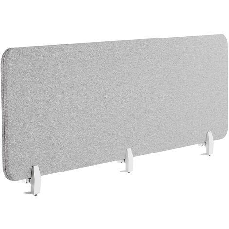 Panel separador para escritorio gris claro 180 x 40 cm WALLY
