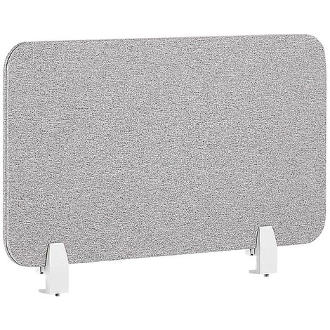 Panel separador para escritorio gris claro 72 x 40 cm WALLY
