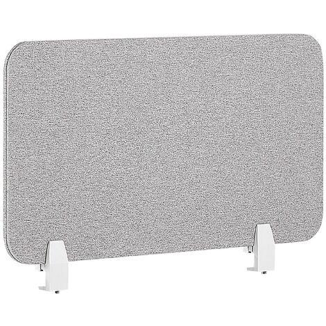 Panel separador para escritorio gris claro 80 x 40 cm WALLY
