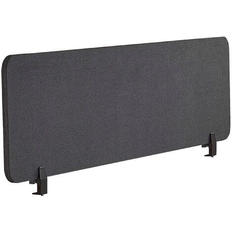 Panel separador para escritorio gris oscuro 130 x 40 cm WALLY