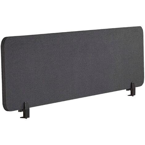 Panel separador para escritorio gris oscuro 160 x 40 cm WALLY