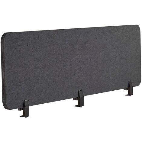 Panel separador para escritorio gris oscuro 180 x 40 cm WALLY