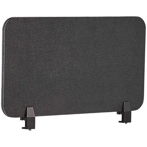 Panel separador para escritorio gris oscuro 72 x 40 cm WALLY