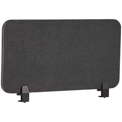 Panel separador para escritorio gris oscuro 80 x 40 cm WALLY