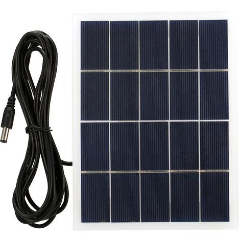 Panel solar 5V 3W con el puerto de la CC policristalino de la celula solar de silicio DIY acampa impermeable panel solar de energia portatil compatible para 3.7V Battery Street jardin de la luz de la lampara principal de la bomba del ventilador