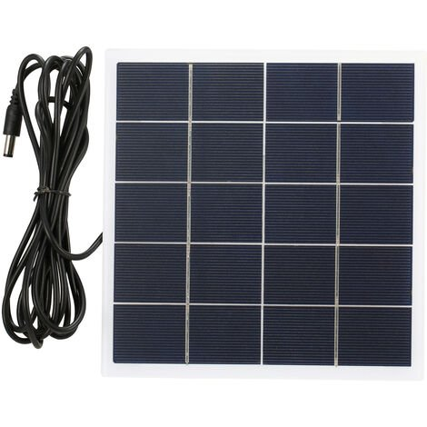 Panel solar 5V 4W, con panel solar de bricolaje portatil de alimentacion de CC Puerto policristalino de la celula solar de silicio