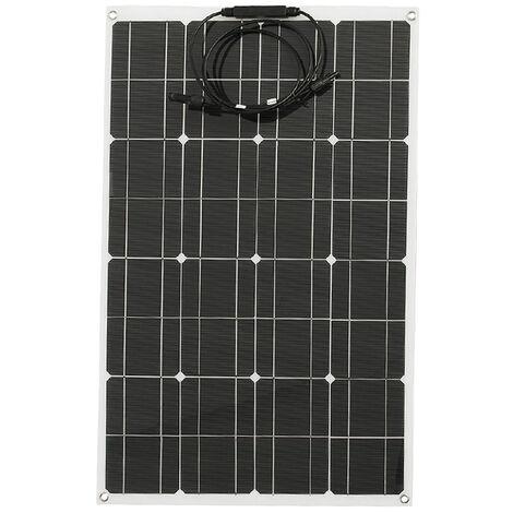 Panel Solar 80W monocristalino de alta eficiencia Celula solar de silicio de bricolaje cargador de energia a prueba de agua para cargar la bateria del coche del barco camping, 80W