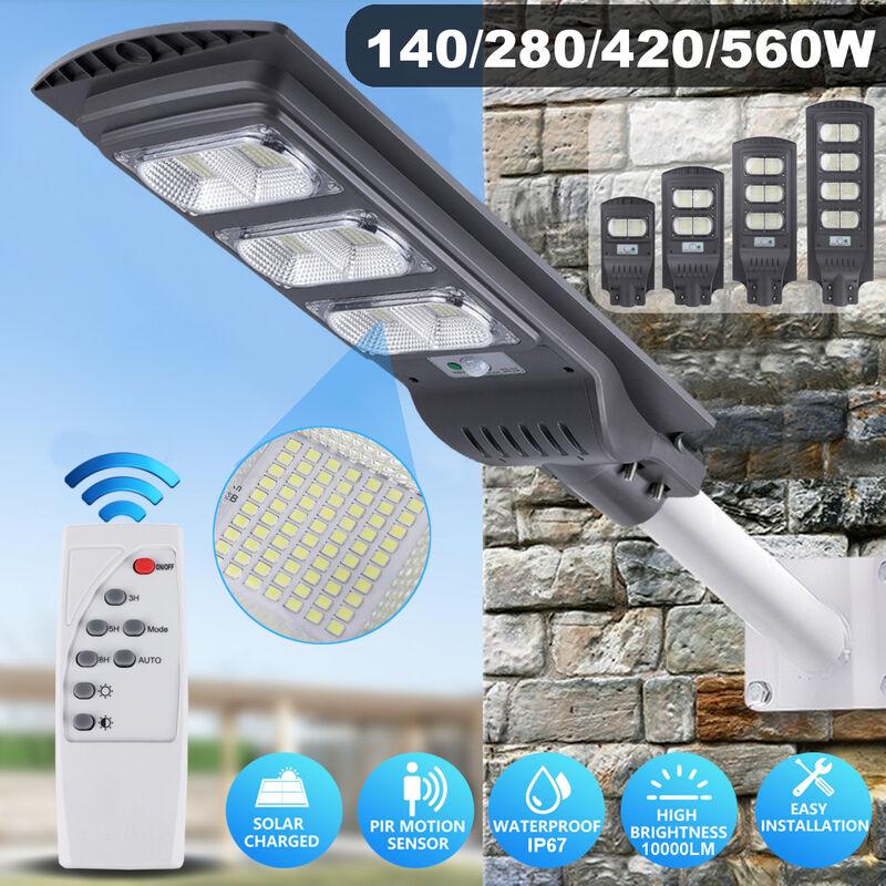 Panel solar impermeable para farola blanca fría de alto brillo tipo E 140 LED